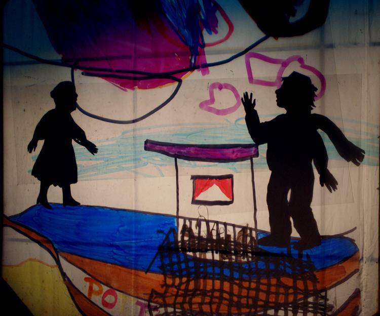Fischer und seine Frau, an der Wand