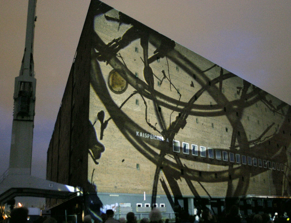 Projektion in der HafenCity Hamburg