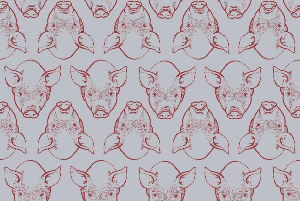 Rot-Grau-Schweine